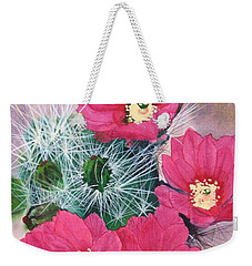 Cactus Flowers I Weekender Tote Bag by Mike Robles