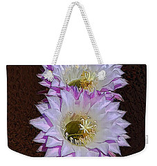Cactus Flowers Weekender Tote Bag by Pamela Walton