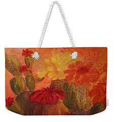 Cactus Garden - Square Format Weekender Tote Bag