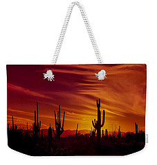 Cactus Glow Weekender Tote Bag by Mary Jo Allen