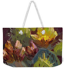 Cactus In Bloom 1 Weekender Tote Bag by Diane McClary