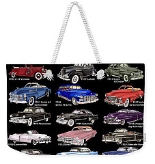 25 Cadillacs In A Poster  Weekender Tote Bag