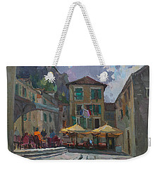 Cafe In Old City Weekender Tote Bag