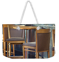 Weekender Tote Bag featuring the photograph Cafe by Patricia Babbitt
