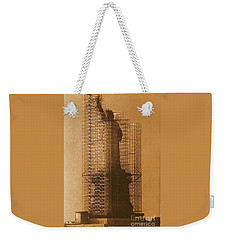New York Lady Liberty Statue Of Liberty Caged Freedom Weekender Tote Bag