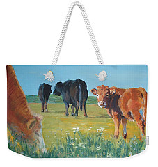 Calf Painting Weekender Tote Bag