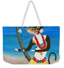 Calico Hula Queen Weekender Tote Bag by Jamie Frier