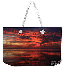Weekender Tote Bag featuring the photograph Cardiff Afterglow  by John F Tsumas