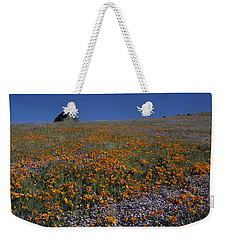 California Gold Poppies And Baby Blue Eyes Weekender Tote Bag