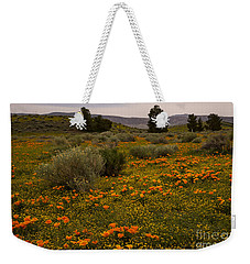 California Poppies In The Antelope Valley Weekender Tote Bag by Nina Prommer