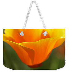 Weekender Tote Bag featuring the photograph Californian Poppy by Joy Watson