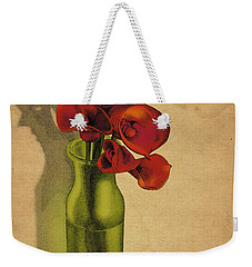 Weekender Tote Bag featuring the drawing Calla Lilies In Bloom by Meg Shearer