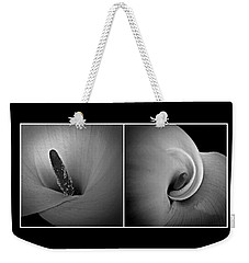 Calla Lily Diptych Weekender Tote Bag