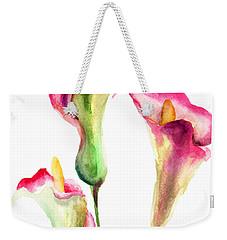 Calla Lily Flowers Weekender Tote Bag