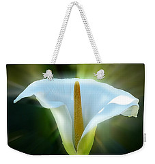 Weekender Tote Bag featuring the photograph Calla Lily by Frank Bright