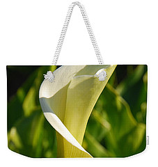 Weekender Tote Bag featuring the photograph Calla Lily by Mary Carol Story