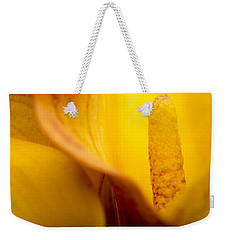 Weekender Tote Bag featuring the photograph Calla Lily by Sebastian Musial