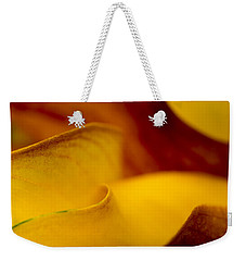 Weekender Tote Bag featuring the photograph Calla Lily Waves by Sebastian Musial