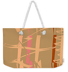 Weekender Tote Bag featuring the digital art Calligraphic Doodle In Tan by Mary Bedy