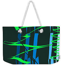 Weekender Tote Bag featuring the digital art Calligraphic Doodle With Green by Mary Bedy