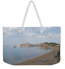 Weekender Tote Bag featuring the photograph Calm Sea by George Katechis