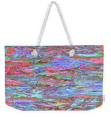 Weekender Tote Bag featuring the digital art Calmer Waters by Stephanie Grant