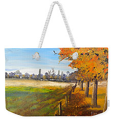 Weekender Tote Bag featuring the painting Camden Farm by Pamela  Meredith