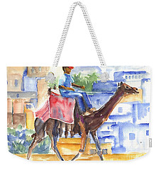 Weekender Tote Bag featuring the painting Camel Driver by Carol Wisniewski