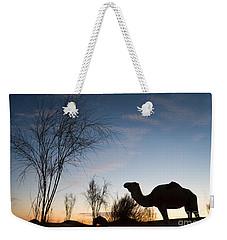 Camel Sunset Weekender Tote Bag
