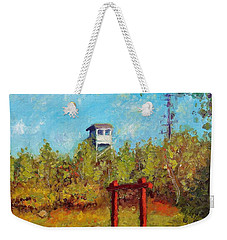 Camel Top Fire Tower Weekender Tote Bag