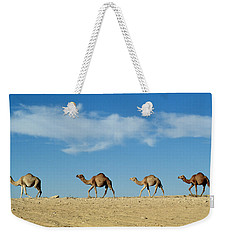 Camel Train Weekender Tote Bag by Anonymous
