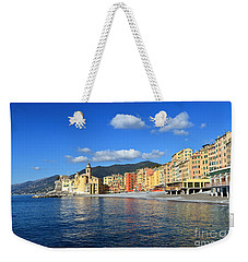 Weekender Tote Bag featuring the photograph Camogli - Italy by Antonio Scarpi