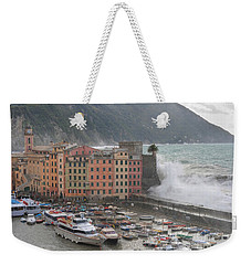Weekender Tote Bag featuring the photograph Camogli Under A Storm by Antonio Scarpi