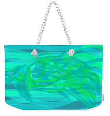 Weekender Tote Bag featuring the digital art Camouflage Fish by Stephanie Grant