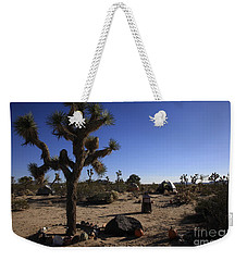 Camping In The Desert Weekender Tote Bag