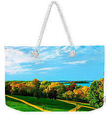 Campus Fall Colors Weekender Tote Bag by Zafer Gurel