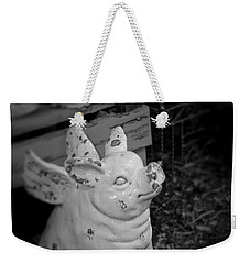 Weekender Tote Bag featuring the photograph Can A Pig Fly? by Kristi Swift
