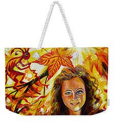 Canadian Autumn Weekender Tote Bag