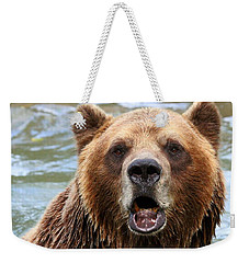 Canadian Grizzly Weekender Tote Bag by Davandra Cribbie