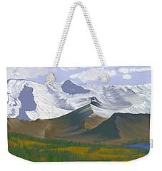 Canadian Rockies Weekender Tote Bag by Terry Frederick