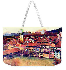 Weekender Tote Bag featuring the photograph Canal At Thurgau by Susan Maxwell Schmidt