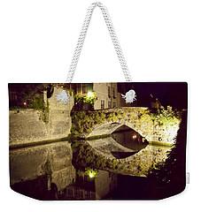 Canal Bridge Reflection Weekender Tote Bag