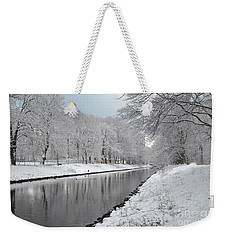 Canal In Winter Weekender Tote Bag by Randi Grace Nilsberg
