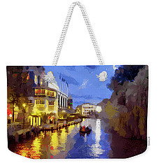 Water Canals Of Amsterdam Weekender Tote Bag