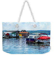 Canandaigua Fishing Shacks Weekender Tote Bag