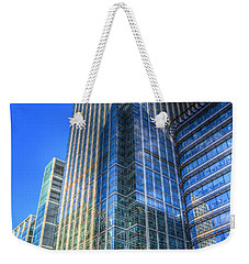 Canary Wharf Weekender Tote Bag by David Pyatt