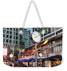 Canary Wharf Twilight Weekender Tote Bag by Jasna Buncic