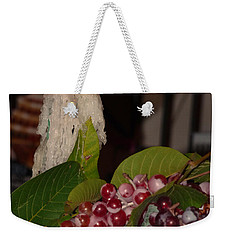 Candle And Grapes Weekender Tote Bag by Marcia Socolik