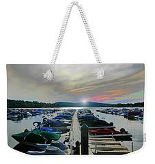 Candlewood Lake Weekender Tote Bag