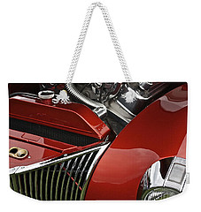 Candy Apple Red And Chrome Weekender Tote Bag